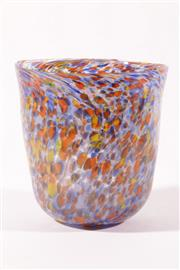 Sale 9010D - Lot 702 - An art glass vase with colourful inserts (H18.5cm)