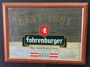 Sale 9026 - Lot 1067 - Vintage German Pub Mirror (h:47 x w:64cm)