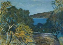 Sale 9125 - Lot 535 - Ray Crooke (1922 - 2015) Landscape oil on board 44 x 59.5 cm (frame: 54 x 70 x 2 cm) signed lower left
