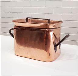 Sale 9126 - Lot 1010 - Georgian French copper daubiere