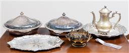 Sale 9140H - Lot 61 - A group of plated wares including Ranleigh and Christofle spoon