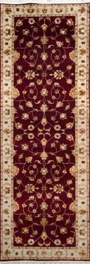 Sale 8321C - Lot 75 - Jaipor Silk & Wool 241cm x 83cm RRP $1800