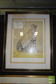 Sale 8509 - Lot 2079 - Henry W. Hall, Cheetah signed limited edition print