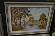 Sale 8537 - Lot 2051 - M. J. Bartley, The Colourful Flinders Ranges, SA, oil on board, 44 x 65cm, signed lower left