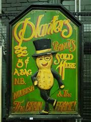 Sale 8661 - Lot 1028 - Planters Peanuts Timber Sign