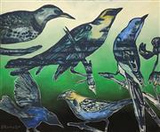 Sale 8657E - Lot 5034 - David Bromley (1960 - ) - Birds 149 x 180cm
