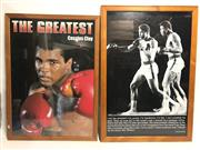 Sale 8733 - Lot 60 - Two large framed posters of Muhammad Ali