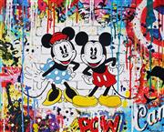Sale 8959A - Lot 5046 - Nastya Rovenskaya (1976 - ) - Minnie & Mickey 61 x 76 cm (total: 61 x 76 x 2cm)