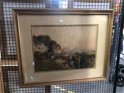 Sale 9139 - Lot 2079 - Jan De Leener (Belgian / Australian) 1873-1944, watercolour Arabian Scene 37cm x 52cm, some foxing,