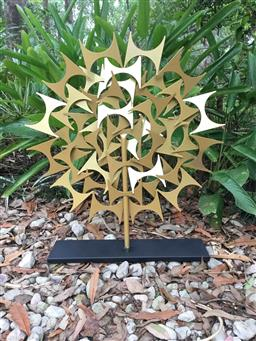 Sale 9175G - Lot 55 - Hand Made Modernist Art Sculpture ,made from metal.General Wear.Size 70cm H x 60cm