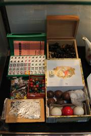 Sale 8306 - Lot 94 - Mahjong Set With Other Vintage Games and Chess Pieces