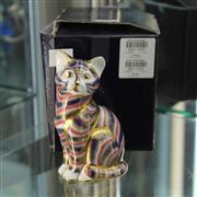 Sale 8379 - Lot 10 - Royal Crown Derby Cat Figure with Original Box