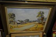 Sale 8537 - Lot 2063 - M. Donoghue, Country Town, oil on canvas on board, 45 x 60cm, signed lower left
