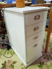 Sale 8629 - Lot 1065 - Modern White Bedside File