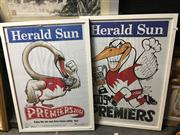 Sale 8674 - Lot 2077 - Framed Pair of Sydney Swans Prints