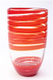 Sale 8685 - Lot 1 - Large Glass Vase (H:29cm)