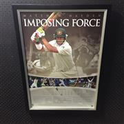 Sale 8828 - Lot 2048 - Imposing Force, Matthew Hayden, Limited Edition 255 of 359, framed