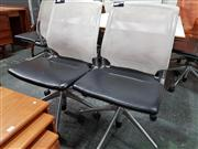Sale 8822 - Lot 1088 - Pair of Mesh Back Desk Chairs by Vitra