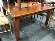 Sale 8822 - Lot 1532 - Square Form Timber Dining Table