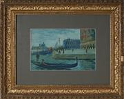Sale 8964 - Lot 2051 - Italian School (Early C20th) - Venezia il Molo 17 x 26 cm (frame: 43 x 53 x 4 cm)