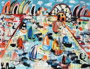 Sale 8968A - Lot 5037 - Yosi Messiah (1964 - ) - My Blue Glorious Harbour 75 x 100 cm