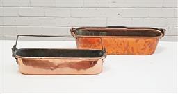 Sale 9126 - Lot 1014 - 2 Graduating copper poissonnieres