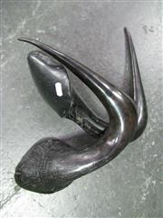 Sale 8331A - Lot 528A - Pair of Black Wildebeest Horns, polished