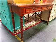 Sale 8648 - Lot 1062 - Timber Desk with Two Drawers on Turned Legs