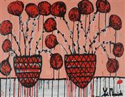 Sale 8826A - Lot 5025 - Yosi Messiah (1964 - ) - Red Blossom 75 x 100cm