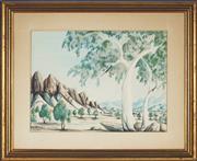 Sale 8838A - Lot 5141 - Gabriella Wallace (1945 - ) - Central Australian Landscape 23 x 34cm