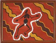 Sale 8878 - Lot 2036 - Matthew Tjupurrula Gill (1960 - 2002) - Spirit Woman 44 x 58 cm (framed and ready to hang)