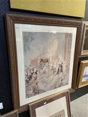 Sale 8870 - Lot 2099 - Norman Lindsay - City of Joy colour facsimile etching ed.192/600, 85 x 76cm (frame)