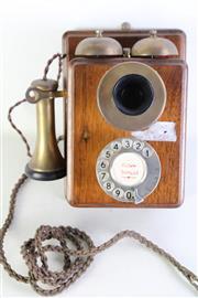 Sale 8980 - Lot 19 - Vintage Wall Mount Telephone L:25cm