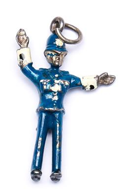 Sale 9246 - Lot 76 - A boxed vintage and enamel policeman pendant