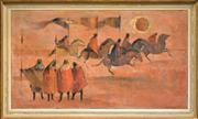 Sale 8301A - Lot 11 - Artist Unknown (XX) - The Flag Bearers 50.5 x 91cm
