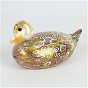 Sale 8396A - Lot 15 - Millefiori Art Glass Duck
