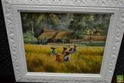 Sale 8458 - Lot 2013 - Artist Unknown (XX) - Workers in the Rice Field, Bali 1985 29.5 x 34cm