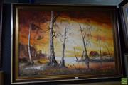 Sale 8582 - Lot 2158 - N. Frith, Country Landscape, acrylic on canvas board, frame 71 x 102cm, lower left
