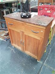 Sale 8601 - Lot 1539 - Granite Top Cabinet with Two Drawers & Doors