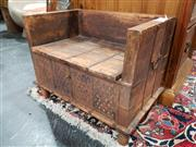 Sale 8777 - Lot 1044 - Small Rustic Bench Seat