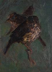 Sale 8901 - Lot 566 - Alice Marian Ellen Bale (1875 - 1955) - Two Robins 22 x16 cm