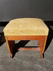 Sale 9026 - Lot 1079 - Timber Art Deco Style Stool (H54cm)