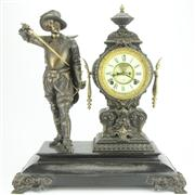 Sale 8314 - Lot 2 - Ansonia Figural Clock