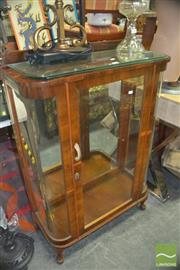 Sale 8331 - Lot 1092 - Deco Display Cabinet w Glass Shelves