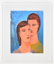 Sale 8401 - Lot 586 - Bill Coleman (1922 - 1993) - Untitled (Couple) 36 x 28cm