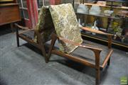 Sale 8409 - Lot 1013A - Pair of Vintage Teak Armchairs with Woollen Cushions