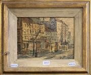 Sale 8678 - Lot 2012 - Artist Unknown (2 Works), European Street Scene; European Country Scene, oil on board, 15.5 x 21cm, signed lower right
