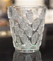 Sale 8709 - Lot 1052 - A Lalique grape design vase, H x 14cm