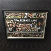 Sale 8828 - Lot 2062 - New Zealand Kiwis, Rugby League World Cup Champions 2008, Limited Edition 77 of 1000, framed