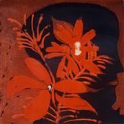 Sale 8838A - Lot 5018 - Charles Blackman (1928 - 2018) - Bouquet Orange 29.5 x 30cm